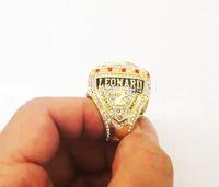 anel de gravata de prata venda por atacado-2019 Autoridade Raptors Campeonato Homens anel de jóias Fãs Colete Souvenirs MVP Leonard Lowry Anel de dedo Tamanho 6-15