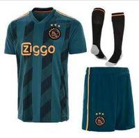 ajax weg fußballuniform großhandel-Ajax FC Auswärtstrikots Uniformen ZIYECH HUNTELAAR YOUNES MEN 2019 2020 Ajax Football Trikot Kit