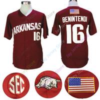 9061fd58 Andrew Benintendi Arkansas Razorbacks Jersey NCAA College Baseball Jerseys  Red Men size M-3XL All Stitched