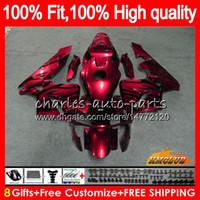 OEM Injection For HONDA CBR 600RR 600F5 CBR600F5 CBR600 RR 03 81HC.132 wine red hot CBR600RR CBR 600 RR F5 03 04 2003 2004 100% Fit Fairing