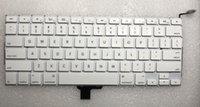 manzanas inglesas al por mayor-Nuevo A1324 Keyboard USA Inglés para Apple Macbook 13