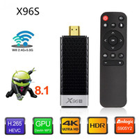 dongle smart venda por atacado-X96S Fogo TV Vara Android 9.0 TV Box Amlogic S905Y2 DDR3 2GB / 16GB 4GB / 32GB Bluetooth 4K MINI Dongle Firestick Smart TV