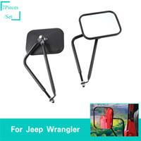 jipe 1997 venda por atacado-Espelhos de carro Espelho Retrovisor Do Carro Para Jeep Wrangler JK JL TJ 2007-2017 / 2018 / 1997-2006 Tomada de Fábrica Alta Quatlity Auto Acessórios