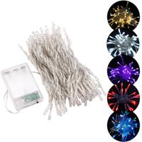 ingrosso luci di stringa bianca blu-40 LED Lighting String Mni Fairy Lights Bianco / Caldo Bianco / Blu / RGB / Verde / Viola Luci natalizie Xmas Decor Light 3XAA Alimentazione a batteria