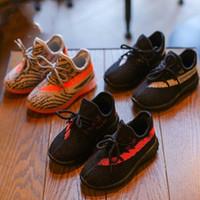 bebek antrenörü ayakkabısı toptan satış-Tasarımcı Çocuk Ayakkabı Sneakers Bebek Yürüyor Eğitmenler Run Ayakkabı Bebek Çocuk Erkek Kız Shoes Enfants Dökün