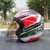 зелёные открытые мотоциклетные шлемы для лица оптовых-Arai SZ RAM 3 NICKY HAYDEN 69 ЗЕЛЕНЫЙ ЦВЕТОК Open Face Off Road Гонки Мотокросс мотоциклетный шлем