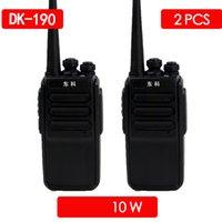 ingrosso walkie 8w-2PCS Dongke 999 8W viaggio Walkie Talkie USB Fast Charge UHF 400-470MHz PMR446 radio CB comunicador walkie-talkie portatile vox
