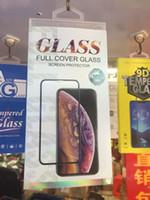 iphone verpackte blaue kiste großhandel-Blau leer retai paket box tasche für iphone xr x für samsung s10 s9 s8 note10 9 a80 a70 5d full cover gehärtetem glas displayschutzfolie