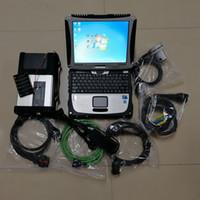 mercedes hdd venda por atacado-MB Star C5 SD Connect C5 para mercedes com software V9.2019 no HD de 320GB e CF-19 4G Laptop para ferramenta de diagnóstico automático