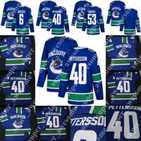 300299ba1 Wholesale elias jersey online - 40 Elias Pettersson Jersey Brock Boeser Bo  Horvat Hockey Jersey Blue