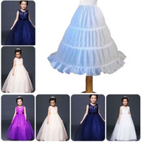blumenmädchen kleid slip petticoat großhandel-Kinder Petticoat Kinder Petticoat Blumenmädchen 3-Hoop Krinoline Unterrock Kleid rutscht Kinder