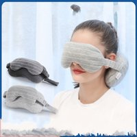 Wholesale dark neck mask resale online - U Type Eye Mask Neck Pillow Dark Portable Fashion Eye Shade High Quality And Inexpensive Gray Light Grays Colors yd J1