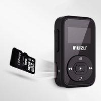 портативная радио bluetooth-гарнитура оптовых-RUIZU X26 8GB Bluetooth 4.0 портативный MP3 музыкальный плеер поддержка Bluetooth-гарнитура стерео Радио автомобиля