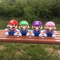 Wholesale anime video games for sale - Hot Sale Style CM MARIO LUIGI Super Mario Bros Plush Doll Stuffed Toys For Baby Good Gifts