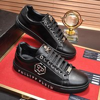 başak setleri toptan satış-2019 yeni yüksek kaliteli açık rahat ayakkabılar, gerçek deri kayış sivri seti düşük üst spor ayakkabı metal dış tasarım orijinal ambalaj ile