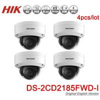 cctv ip67 venda por atacado-Hikvision Original Câmera IP DS-2CD2185FWD-I 8MP Cúpula de Rede POE IP Câmera H.265 CCTV Slot Para Cartão SD IK10 IP67 4 pçs / lote