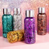 Glitter per viso e corpo in gel per laser Paillettes Glow Colorful Teras Glitter per crema Paillettes scintillanti Festival Stage Makeup 30g