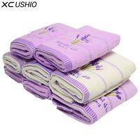 refrigeração toalhas transporte gratuito venda por atacado-XC USHIO 5 pçs / set 100% Algodão 34 * 75 cm Lavanda Toalha de Rosto Toalha de Mão Toalhinha Amantes Presente Toalla De Cara Facies Linteum