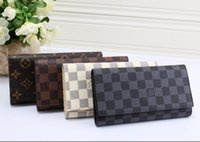 Wholesale classic long hand bags for sale - Group buy designers brand classic women handbag printed leather Louis Vuitton long wallet classic Italys men wallet fashion Hand bag