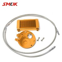 Wholesale yamaha adapters resale online - SMOK Scooter Accessories Oil Cooler Professional Kit Oil Filter Adapter For Yamaha GTR BWS X CYGNUS