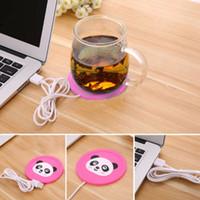çay fincan minderi toptan satış-USB Isıtmalı Yumuşak Plastik Bardak Mat Sıcak Bardak Isıtma Mat Sıcak Pad Kahve Çay PVC Isıtıcı Isıtıcı için Elektrikli Yalıtım Coaster