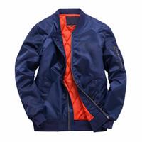 осенняя одежда мужчины оптовых-Осень зима куртки кандзи сплошной черный зеленый пальто дизайнерские куртки молния мужская одежда и пиджаки Большой размер