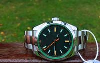 relógios de edição limitada para homens venda por atacado-Mens Limited Edition Assista Men Black Dial 116400 completa 316 Aço Sapphire116400GV Dive Men Sport Wristwates