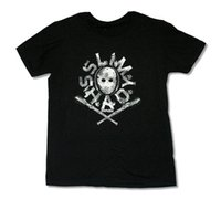ingrosso camicia dei pipistrelli-Eminem Mask Bats Black T Shirt Nuovo ufficiale Merch Slim Shady
