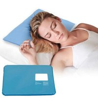 ледяная круглая подушка оптовых-Hot Cool Cold Chillow Ice Pillow Aid Sleeping Cooling Insert Pad Mat Therapy Relax Muscle