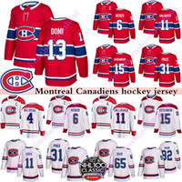Wholesale hockey jerseys price resale online - Men s Montreal Canadiens jerseys Shea Weber Carey Price Brendan Gallagher Max Domi Stitched Red or White Ice Hockey jersye