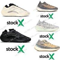 zapatos planos verdes en línea al por mayor-De archivo x 700 MNVN kanye que parte del oeste zapatos 700 V3 Alvah Azael 3M reflectantes zapatillas de deporte para hombre de lujo 380 extranjeros Mist diseñador EUR 36-46