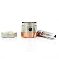 ingrosso set di tubi in metallo fumante-Metallo sei fori Grinder Cut lega Tobacco Pipe fumo di pipa Mill utile set Accessori per la casa di alta qualità 13ds H1