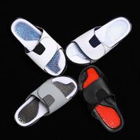 sapatos de salto venda por atacado-Homens Sandálias De Borracha De Chicago 23 # esportes de alta qualidade verão sapatos Branco Preto Ginásio Vermelho verão Chinelo Salto homem Chinelos de praia