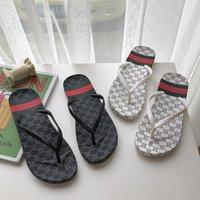 trendige sandalen für frauen großhandel-Modemarke Flip Flops für Frauen Sommer rutschfeste Strandschuhe mit Print Trendy PU Outdoor Sandalen