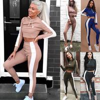 ingrosso tuta da baseball-2019 Leisure Threaded Printing Women Sport Ladies Tute Completi Cardigan Jacket Pantaloni stretti Set Abbigliamento donna Donna Sportwear