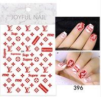 marka çıkartması çıkartmaları toptan satış-Nail Art Süslemeleri Etiketler LOGO Marka Nail Sticker DIY Sticker Çıkartmaları İpuçları Manikür Nail Art Çıkartmaları LJJK1645