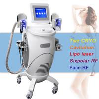 ultrasonik kavitasyon rf makinesi en iyisi toptan satış-Best seller cryo makinesi cryo vakum yağ kaybı çok işlevli yağ donma ultrasonik rf vakum kavitasyon zayıflama