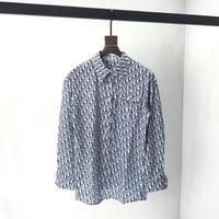 erkek düğmeler için tasarım gömlekler toptan satış-2019 erkek tasarımcı Casual Gömlek tee lüks Fransa Metal düğme baskı elbise kısa kollu gömlek Erkek Kadın gerçek etiket etiketi Yeni 19ss