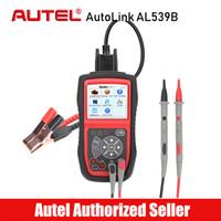 lector de código autel autolink al por mayor-Autel AutoLink AL539B Coche OBD2 Código Escáner Probador de batería Prueba de voltaje eléctrico OBD 2 OBD II Lector de fallas Diagnóstico automático