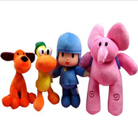 Wholesale pocoyo gifts resale online - Four sets of pocoyo small P excellent plush doll toys animation children toys and gifts free of freight