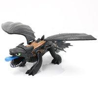 ingrosso il furore di notte del drago gioca i toothless-30pcs Come addestrare il vostro drago 3 Action Figures Giocattoli senza denti Skull Gronckle Deadly Nadder Night Fury Drago senza denti Figure giocattoli per bambini