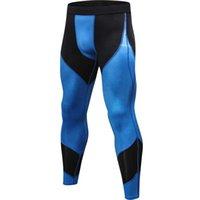 erkekler sıkı egzersiz giysileri toptan satış-Koşu Erkekler Tayt Pro sıkıştır Yoga Pantolon GYM Egzersiz Fitnes Tozluklar Egzersiz Basketbol Egzersiz Erkekler 4030 Spor Giyim