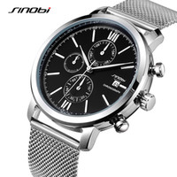 Wholesale sinobi luxury watch for sale - Group buy SINOBI Men Watches Sports Chronograph Men s Wrist Watches with Week Display Date Full Steel Top Brand Luxury Relogio Masculino