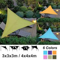 açık su geçirmez çadırlar toptan satış-Açık Su Geçirmez Üçgen UV Güneş Gölge Yelken Kombinasyonu Net Üçgen Güneş Yelken Çadır Kamp Bahçe Güneş Koruyucu Net Barınak 3/4 M