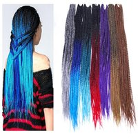 Wholesale different color braiding hair for sale - Group buy A Strands Pack Different Color Synthetic Twist Braids Hair Extensions inch Kanekalon High Temperature Fiber Crochet g