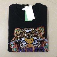 yüksek moda bayan süveter toptan satış-Sıcak yüksek kalite Erkekler Kadınlar nakış tiger Başkanı Mektup Kazak Ekip boyun Kazak Moda Marka eşofman jumper Hoodies Kazak Ceket