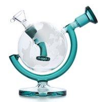 tazones de fumar envío gratis al por mayor-Globo de cristal Bongs Dab Tuberías de agua Rig pipas de agua 5.7inches altos con pipas de agua al reciclado del vidrio tubo de humo de la pipa recipiente de vidrio libre del envío