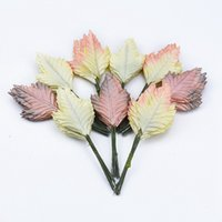 Wholesale garland brooches resale online - 12pcs christmas decorations for home garland scrapbooking flowe wall Bridal brooch candy box artificial plants Christmas leaves