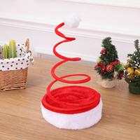 artículos de regalo rojos al por mayor-artículos Navidad Decoración sombreros sombreros regalos resorte rojo venta