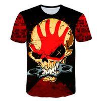 ingrosso 3d camicie horror-Maglietta del cranio di estate dei nuovi uomini manica corta marca 3d T-Shirt gotica Maglietta Horror Skull Hot Cool uomo